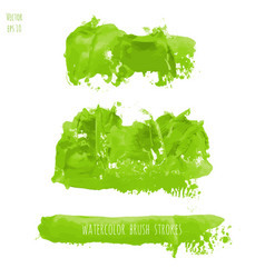 set of green watercolor texture backgrounds vector image