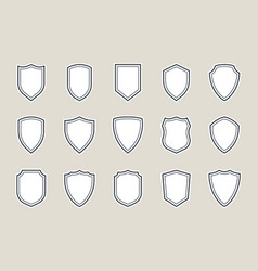 shield icon shield icons set vector image
