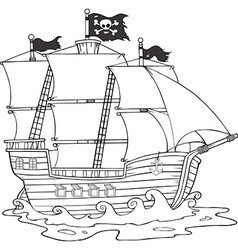 Ship cartoon vector