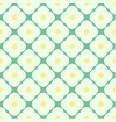 Simple daisy retro regular pattern vector