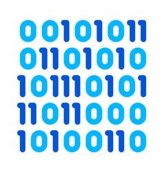 Streaming binary code matrix thin line icon vector