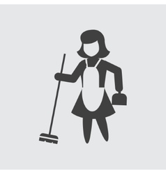 Sweeping maid icon vector