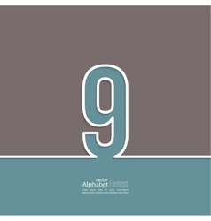 The number abstract background vector