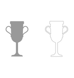 Trophy cup set icon vector