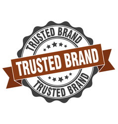 Trusted brand stamp sign seal vector