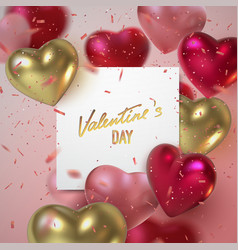 valentines day holiday banner vector image