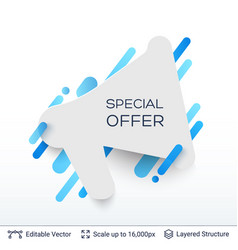 white badge special offer sticker vector image