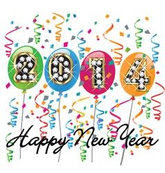 2014 Happy New Year vector image vector image
