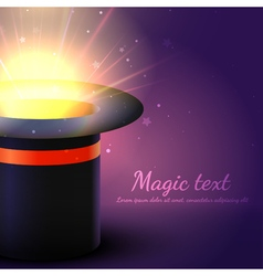 Background Magic Hat With Glow vector image vector image