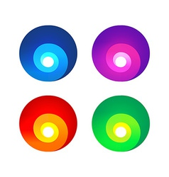 Colorful abstract spiral signs vector image vector image
