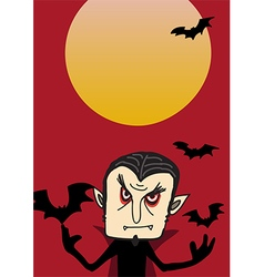 Dracula poster for Halloween party vector image