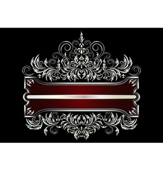 Frame with decor of the Victorian style vector image vector image