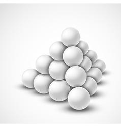 Pyramid from balls vector image vector image