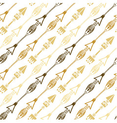seamless background of ethnic arrow in gold vector image vector image