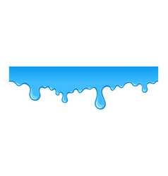 stain of blue paint vector image