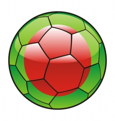 bangladesh flag on soccer ball vector image vector image