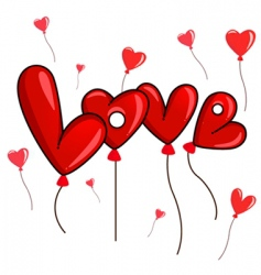 decorative love vector image vector image