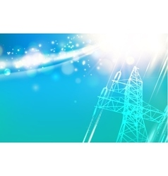 Electric power tower vector image vector image