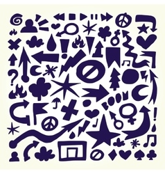 Hand drawn doodle objects vector image vector image