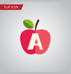 isolated apple flat icon vitamin a element vector image vector image