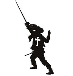 Musketeer warriors theme vector