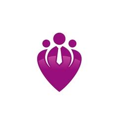 people group employee business logo vector image