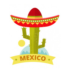 bright grunge mexican logo or print - vector image vector image