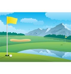 golf course vector image