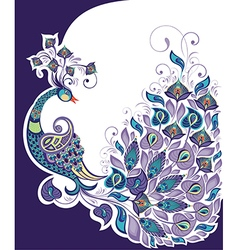 Peacock background vector image vector image