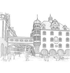 sketch of munich vector image vector image