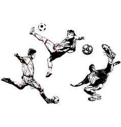 soccer trio vector image vector image