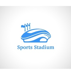 Sports Stadium Logo in Blue vector image vector image
