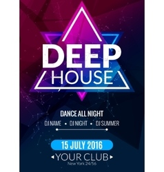 Club electronic deep techno music poster Musical vector image