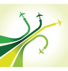 green planes vector image