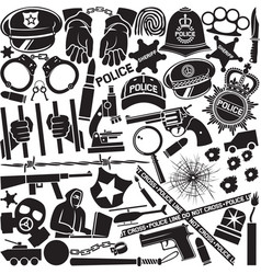 police icons pattern or background vector image