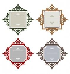 retro frames vector image