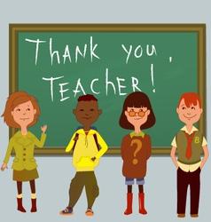 Thank you teacher vector image
