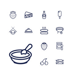 13 gourmet icons vector