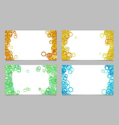Abstract card background template set vector