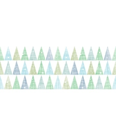 Abstract Christmas trees forest in snow vector image