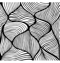 abstract doodle decorative line art coloring page vector image