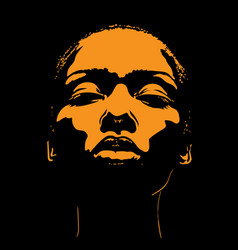 african woman face in contrast light vector image
