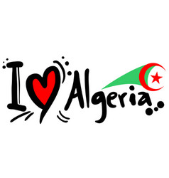 algeria love vector image