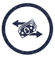 Banknotes payments rounded grainy icon vector