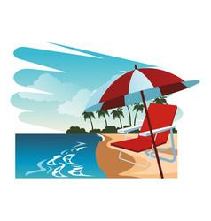 beautiful beachscape scenery vector image
