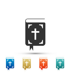 bible book icon isolated holy bible book sign vector image