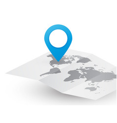 blank worldmap abstract travel concept with blue vector image