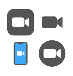 Blue camera icons - live media streaming vector