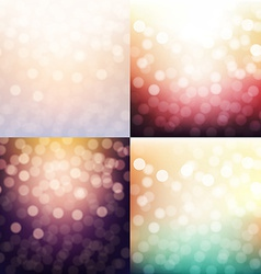 Blurred Backgrounds Set vector image
