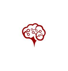 Brain circuit logo template vector